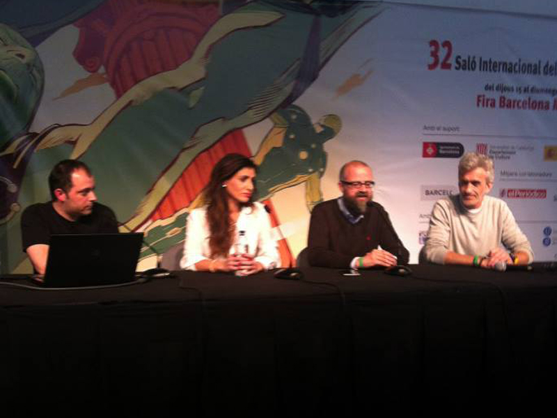 Presentacion de la revista CMC Entertaiment en el Salon del Comic de Barcelona